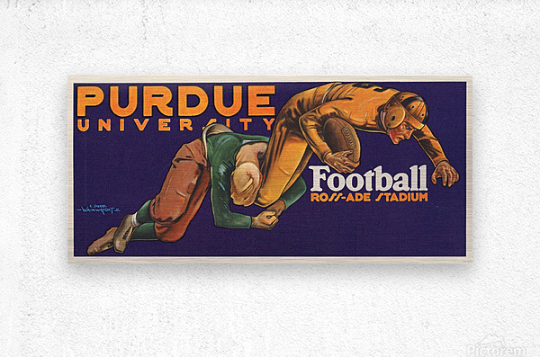 1929 purdue football art  Metal print