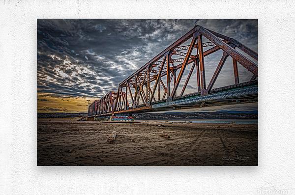 Pont de fer Haldimand  Metal print