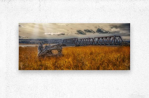 Pont de fer plage Haldimand  Impression metal