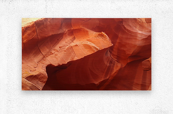 Eroded Wall of Antelope Canyon   Metal print