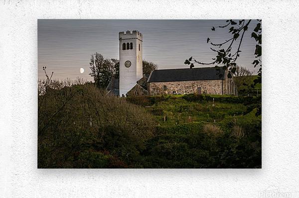 St Jamess Church in Manorbier  Metal print