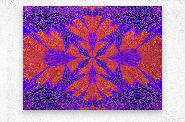 Purple Butterfly In Sunshine 1  Metal print