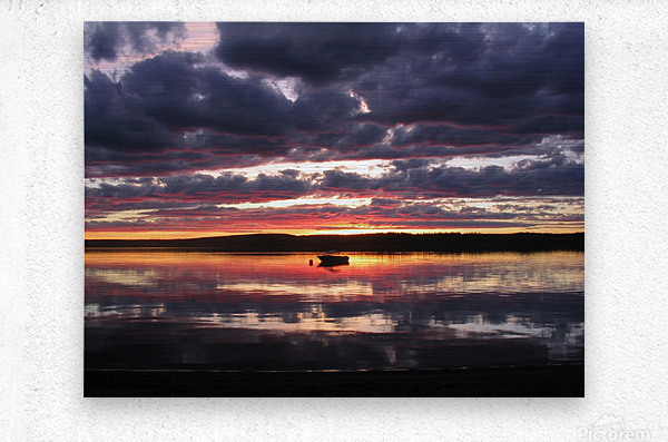 Sunset GL  Metal print