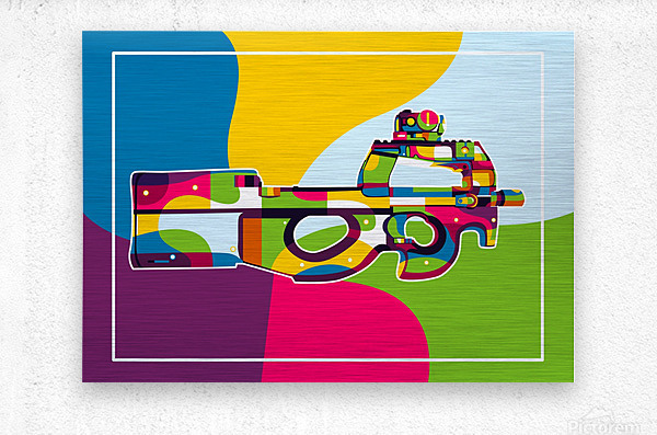 FN P90 Pop Art  Metal print