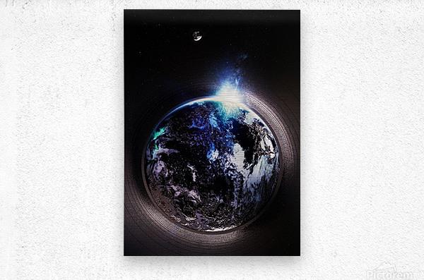 Cosmic Sapphire  Metal print