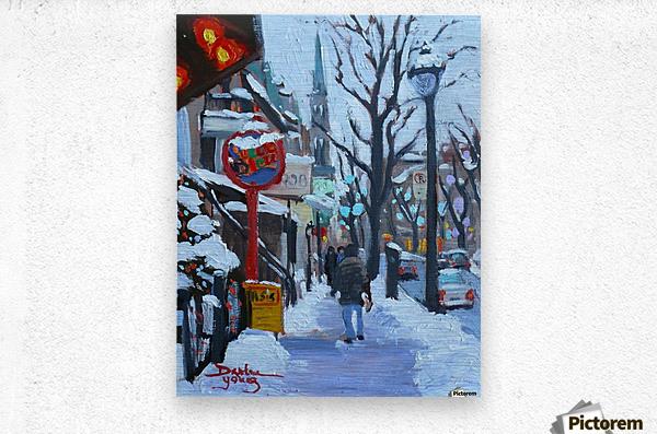 Montreal Winter St-Denis  Metal print