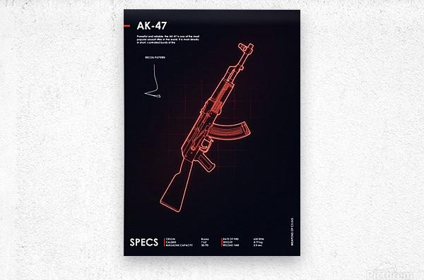 AK-47 CSGO WEAPON  Metal print