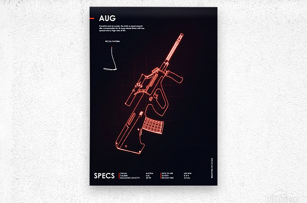 AUG CSGO WEAPON  Metal print