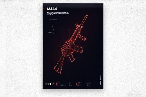 M4A4 CSGO WEAPON  Metal print