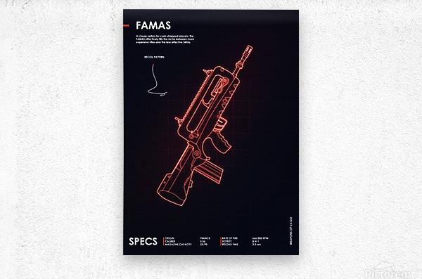 FAMAS CSGO WEAPON  Metal print