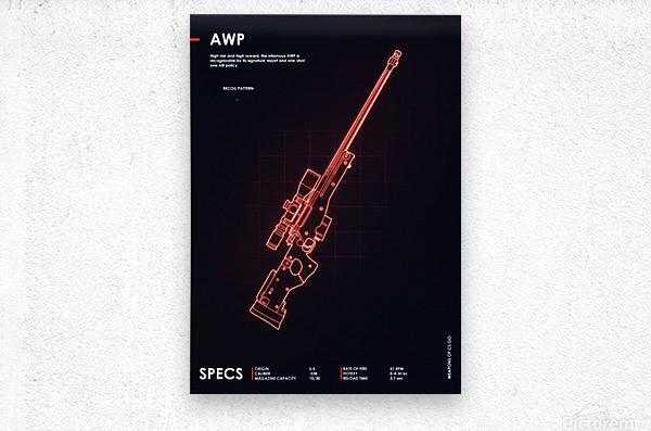 AWP CSGO WEAPON  Metal print