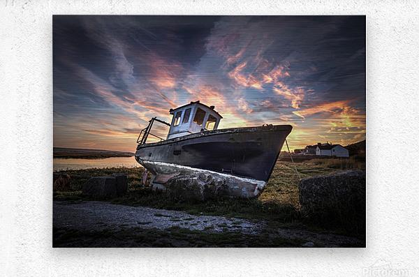 The old fishing boat  Metal print