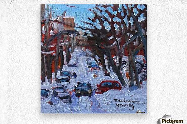 Montreal Est, Winter Scene  Metal print
