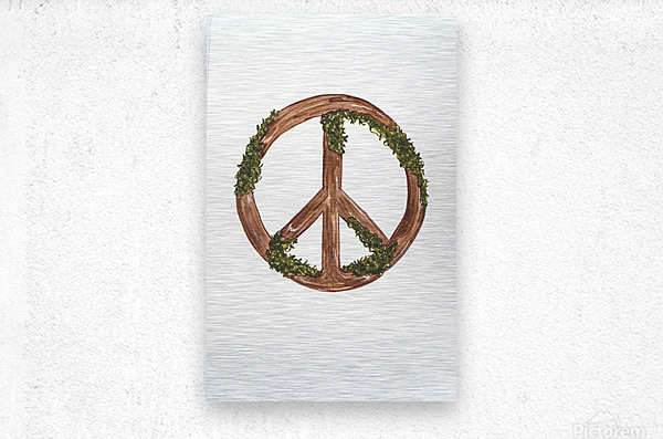 Peace Sign  Metal print