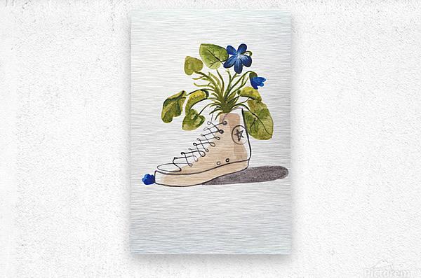 Chucks and Flowers   Metal print