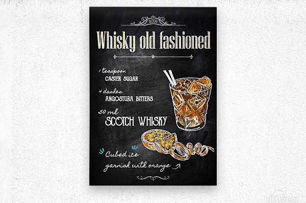 Whisky old fashioned  Metal print