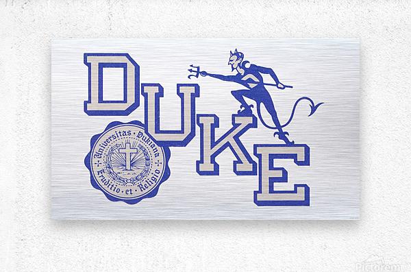 Vintage Duke University Art  Metal print