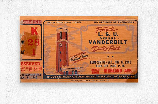 1948 LSU vs. Vanderbilt  Metal print
