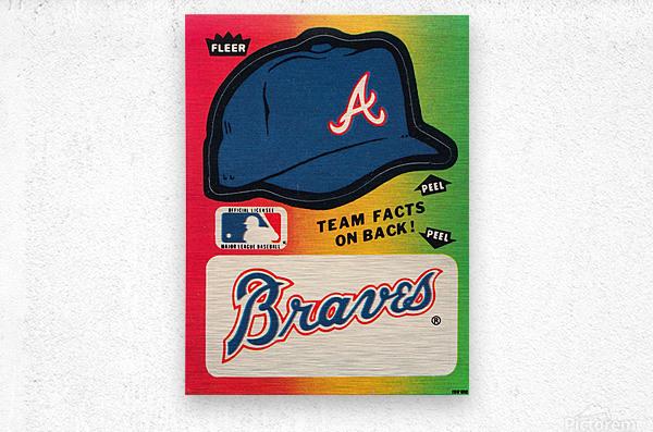 1983 Atlanta Braves Fleer Decal  Metal print