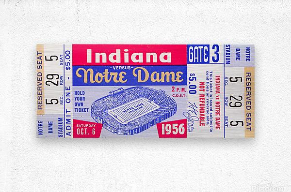 1956 Notre Dame vs. Indiana  Metal print