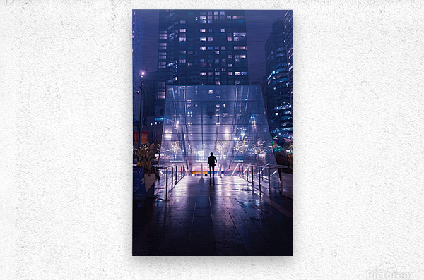 Caught In The Middle  Metal print