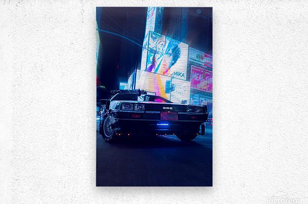 My DeLorean  Metal print