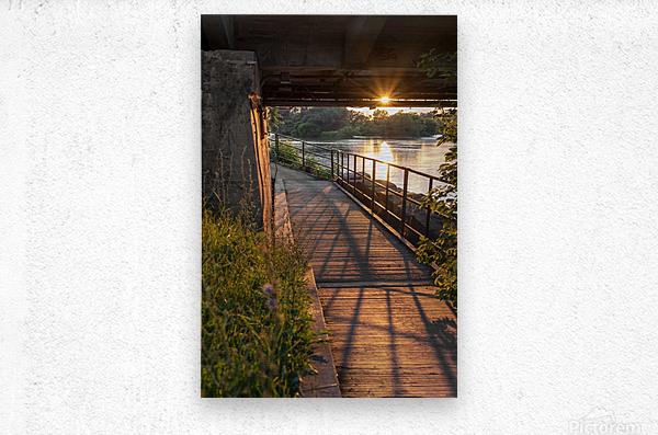 BridgeBoardwalk  Metal print