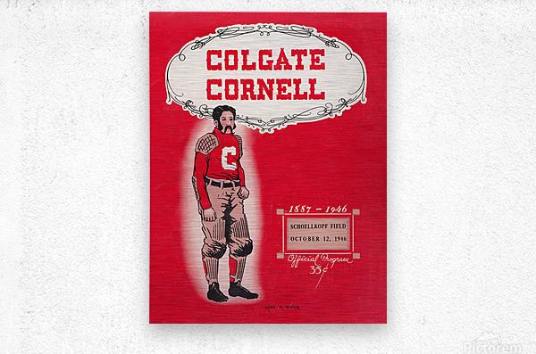 1946 Colgate vs. Cornell  Metal print