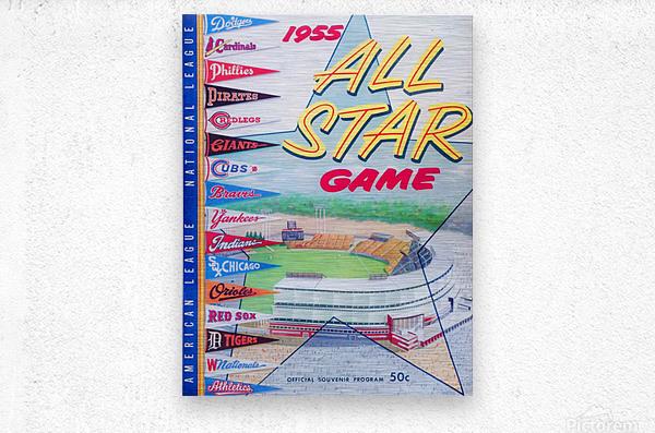 1955 Major League All-Star Game  Metal print
