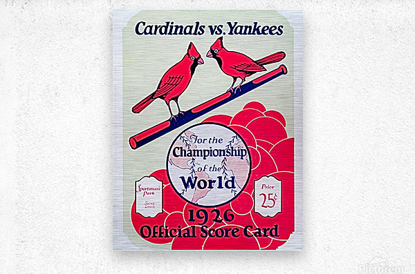 1926 World Series Score Card  Metal print
