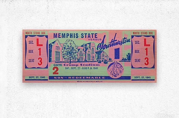 1941 Memphis State  Metal print