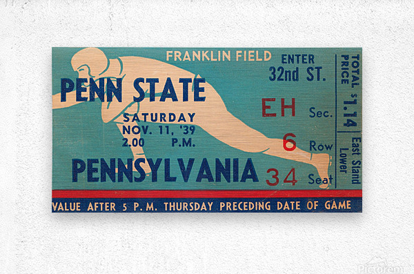 1939 Penn State vs. Pennsylvania  Metal print