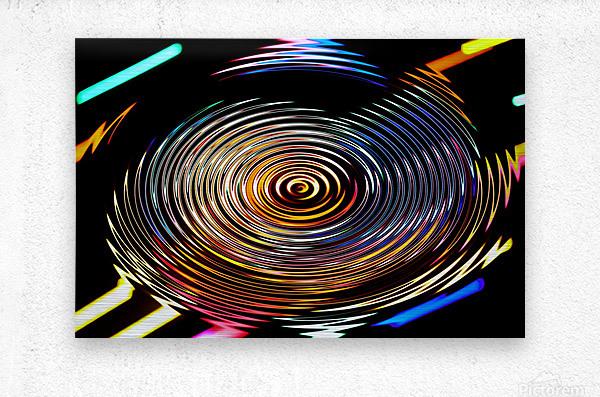 LUMI CIRCLE 001  Metal print