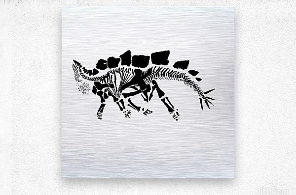 Fossil Stegasaurus  Metal print