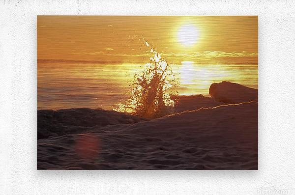 A Splash of Sunrise  Metal print