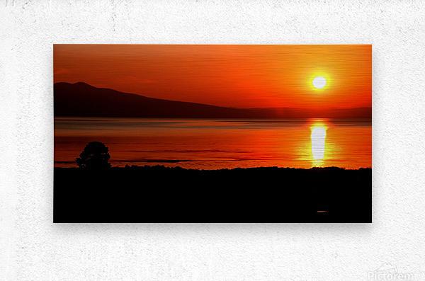 Honey Lake Sunrise  Metal print