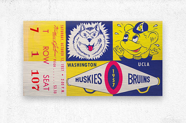 1957 UCLA vs. Washington  Metal print