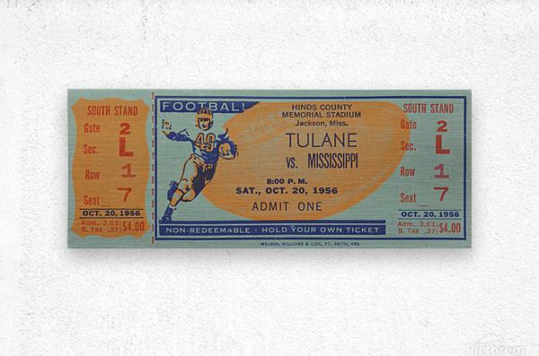 1956 Tulane vs. Ole Miss  Metal print