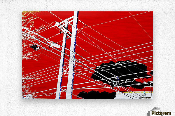 COTE SAINT LUC RED  Metal print