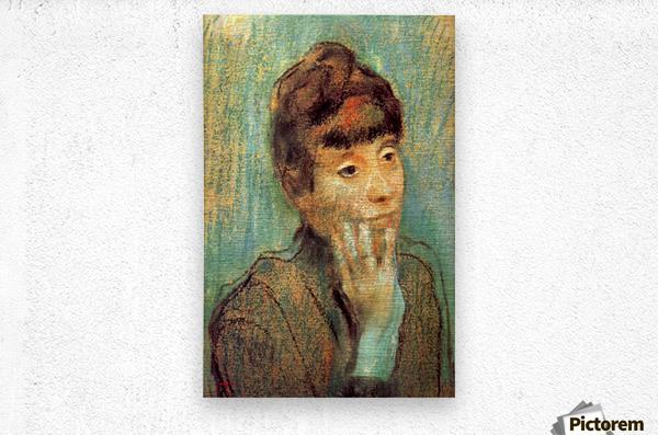 Portrait of a Lady by Degas  Metal print