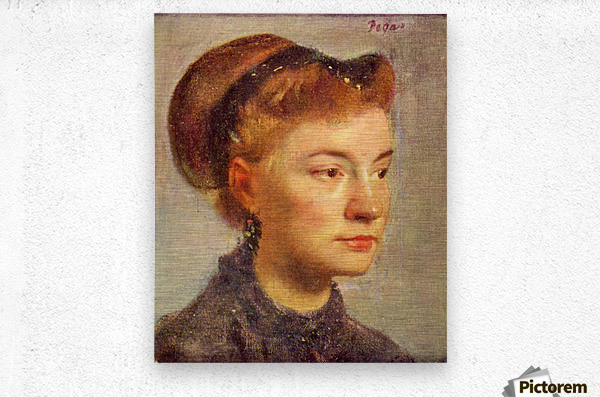 Portrait of a young Lady by Degas  Metal print