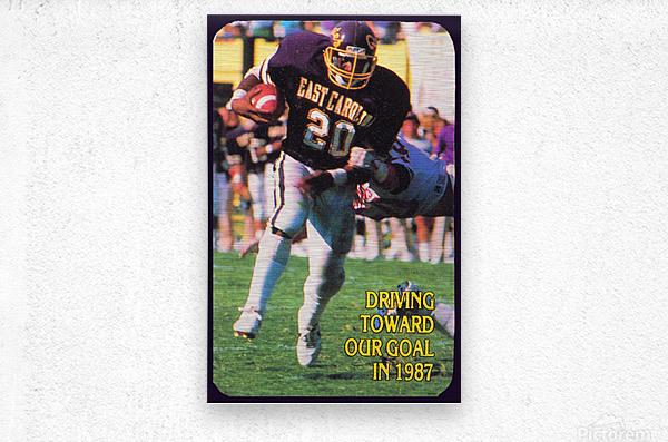 1987 East Carolina Football  Metal print