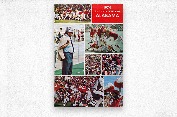 1974 Alabama Football Print  Metal print