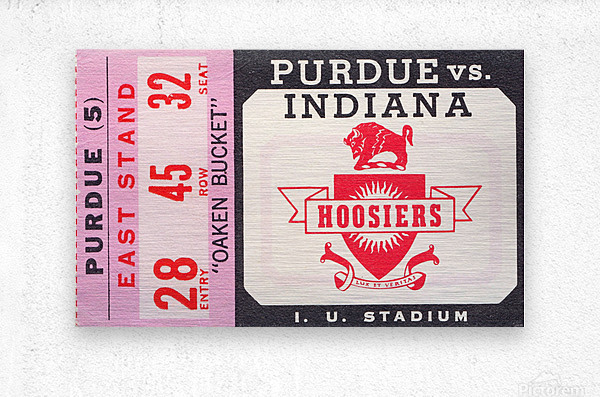 Vintage Indiana Hoosiers Football Ticket Stub  Metal print