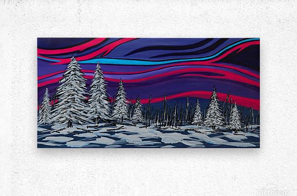 Snowy Trees Chinook Art IMG_0180  Metal print
