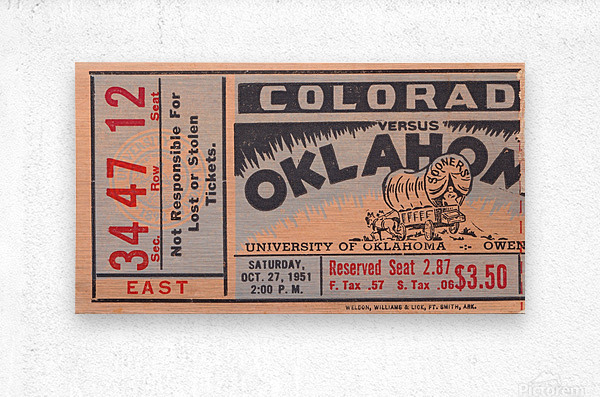 1951 Oklahoma vs. Colorado  Metal print