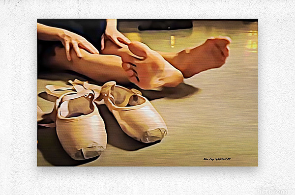 BalletDancerp  Metal print