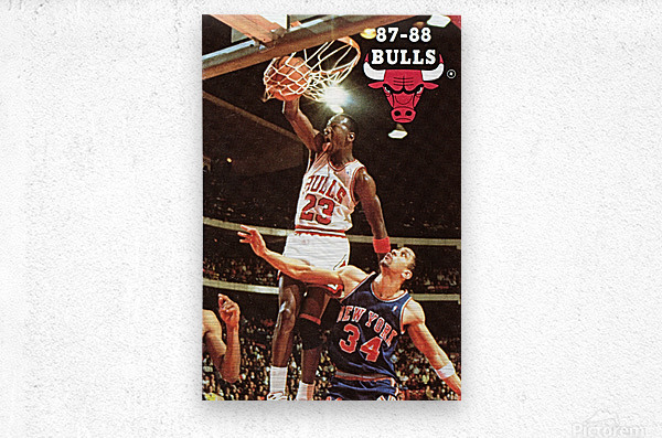 1987 Chicago Bulls Michael Jordan Art  Metal print