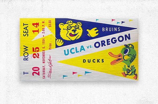 1954 UCLA vs. Oregon  Metal print