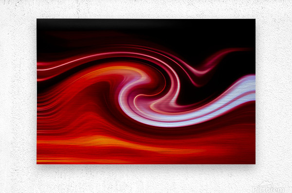 FIRE WAVE  Metal print